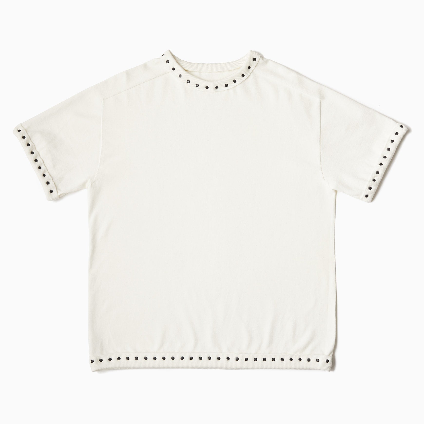 TYPE-1 Knit Half Sleeves Organic Cotton Body Part (White)