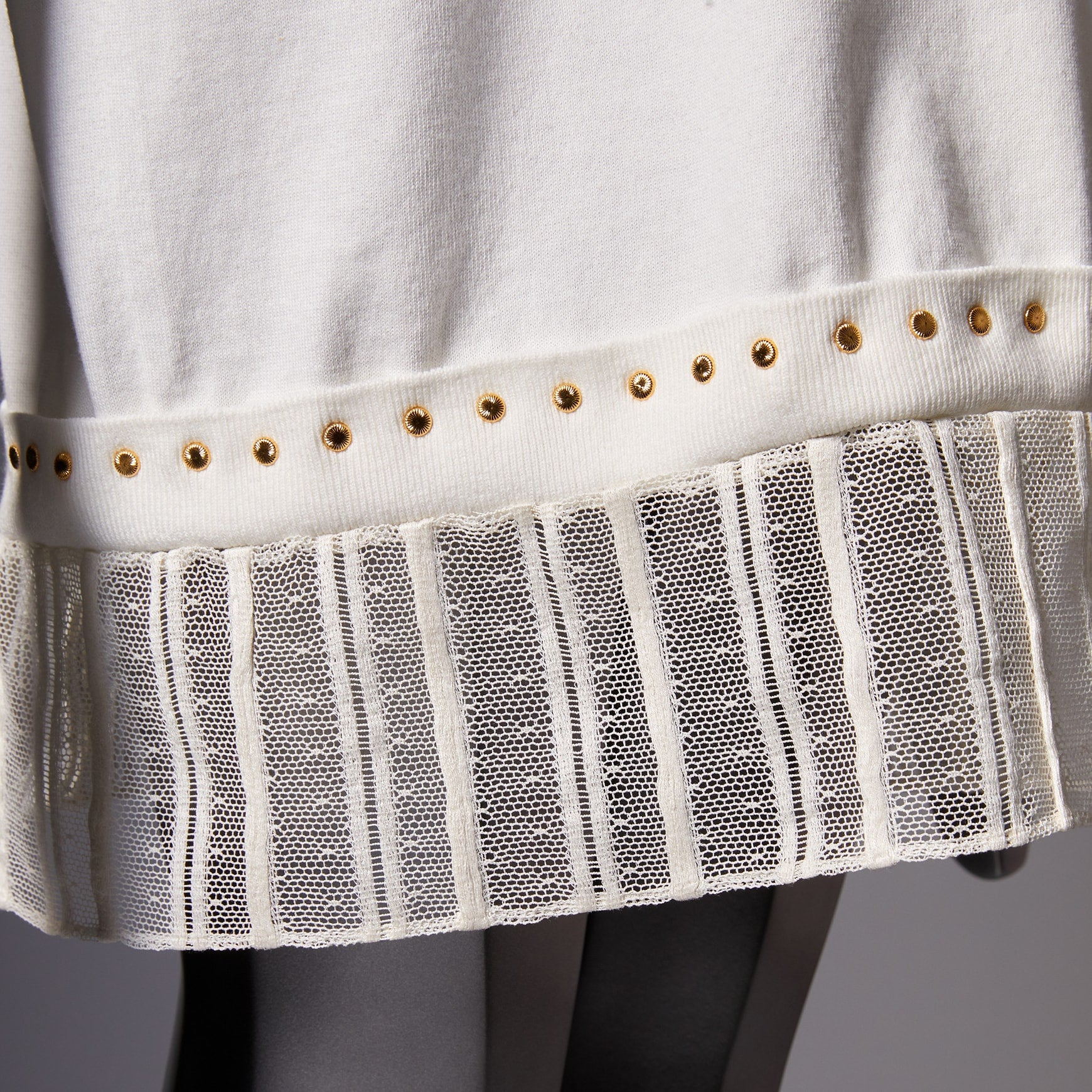 TYPE-1 Knit French Lace Waist Part (White Stripes)