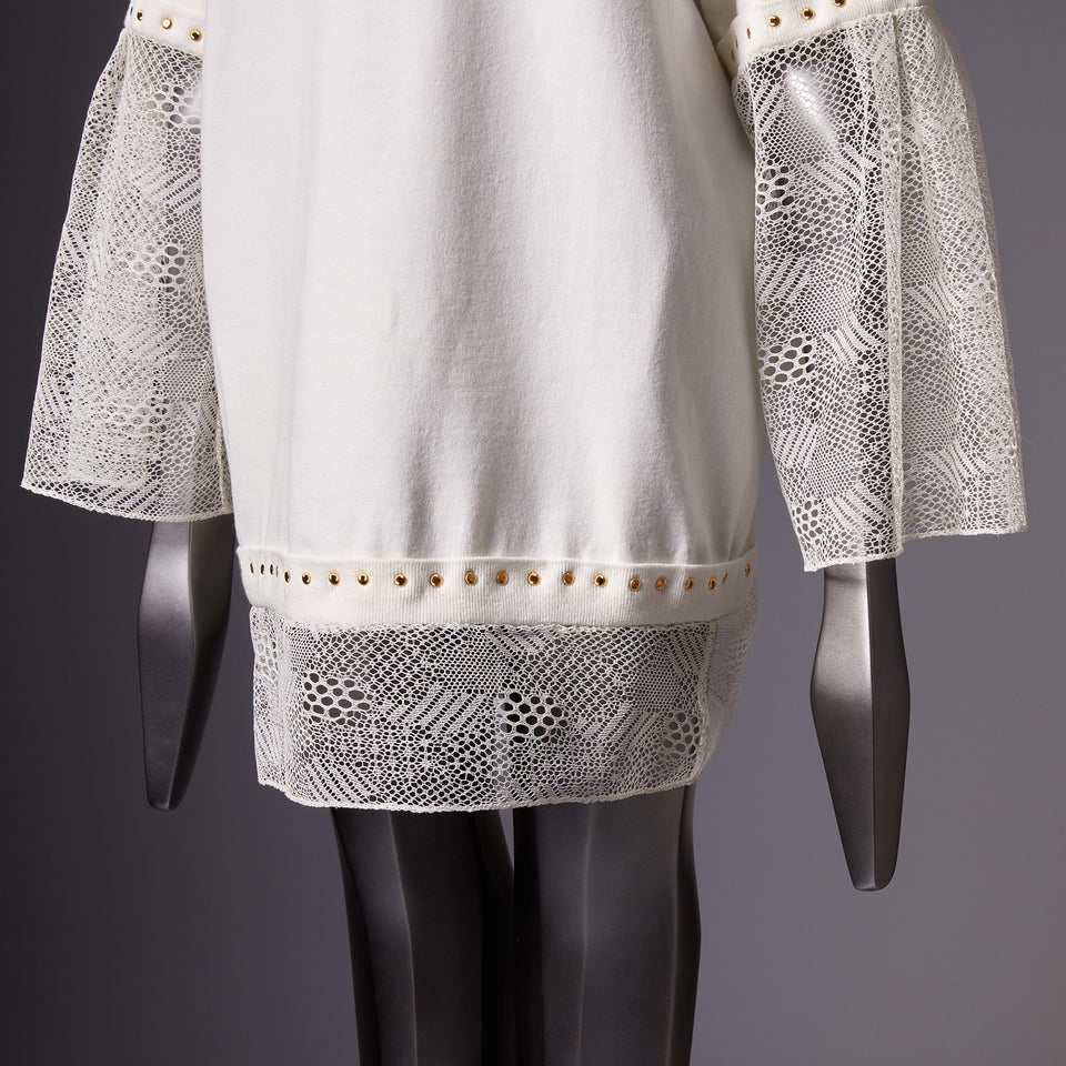 TYPE-1 Knit French Lace Waist Part (White Cells)