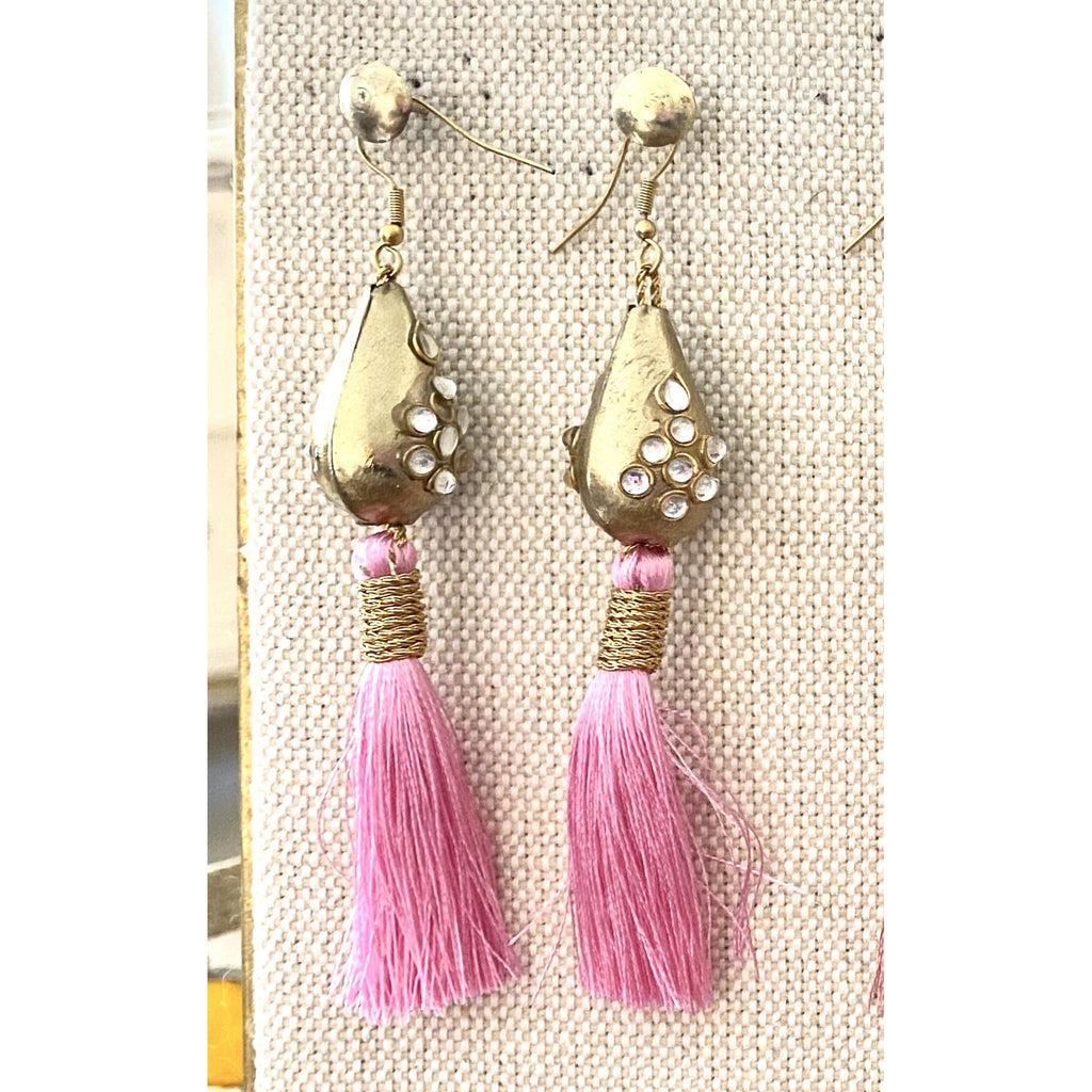 Pink Silk Juliet Earrings