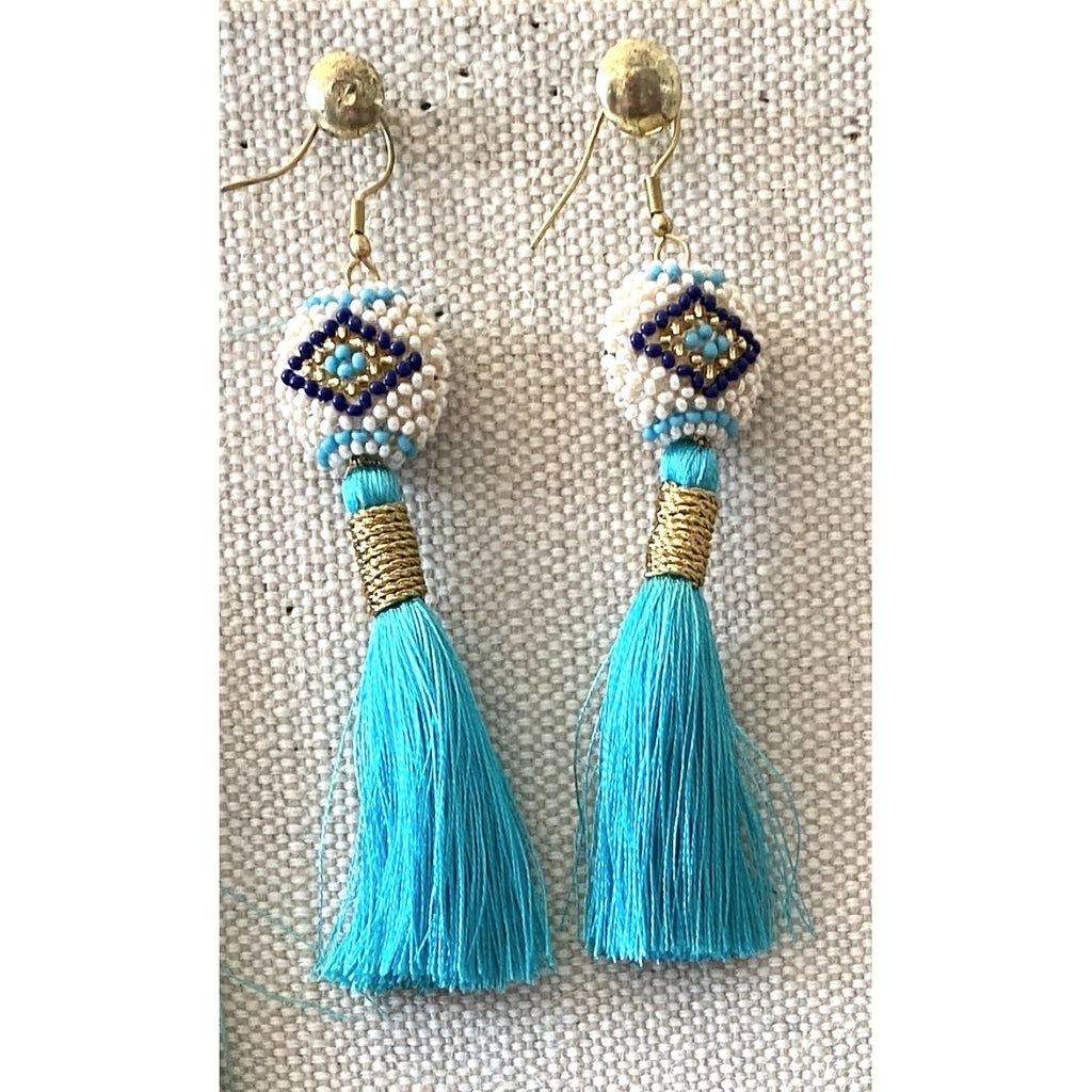 Turquoise Silk Kai Earrings