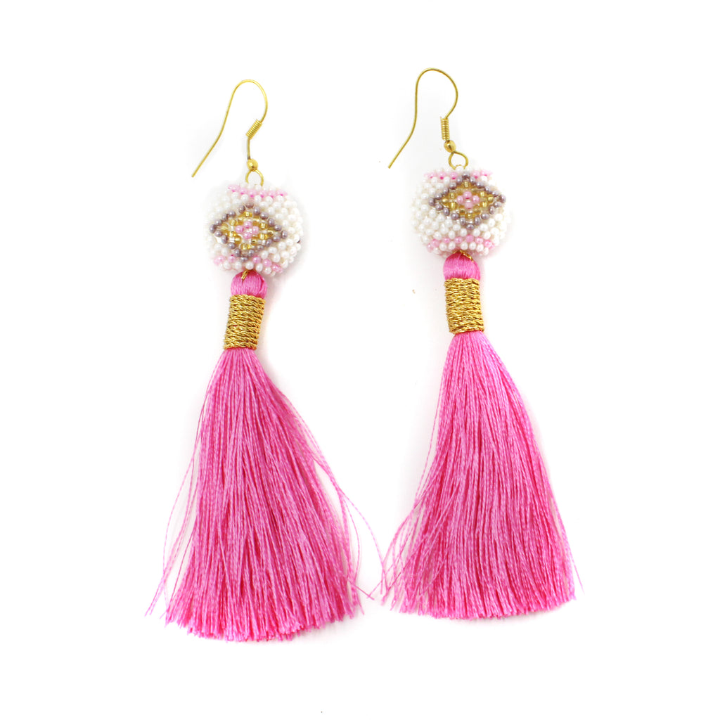 Bright Pink Kai Earrings