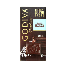 Load image into Gallery viewer, Godiva Tablet Dark Chocolate 50% Sea Salt