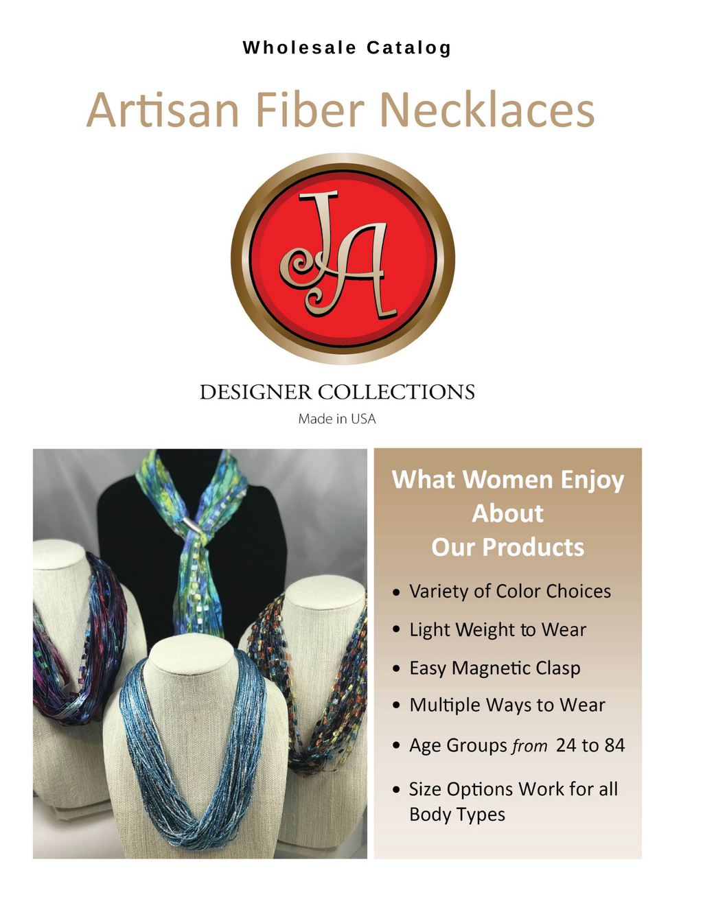 Catalog - Fiber Necklaces, Magnetic Clasp | Download Catalog