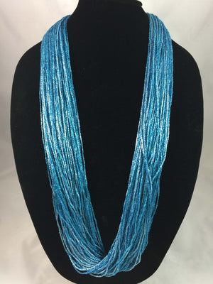 Marine | Shimmer | Fiber Necklace