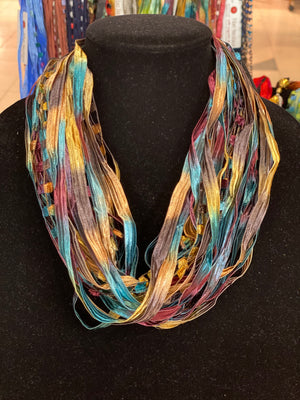 Mediterranean | Ribbon | Fiber Necklace
