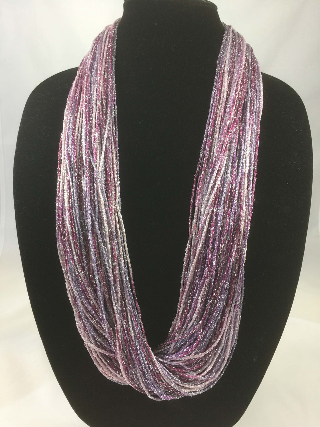 Berry | Shimmer | Fiber Necklace