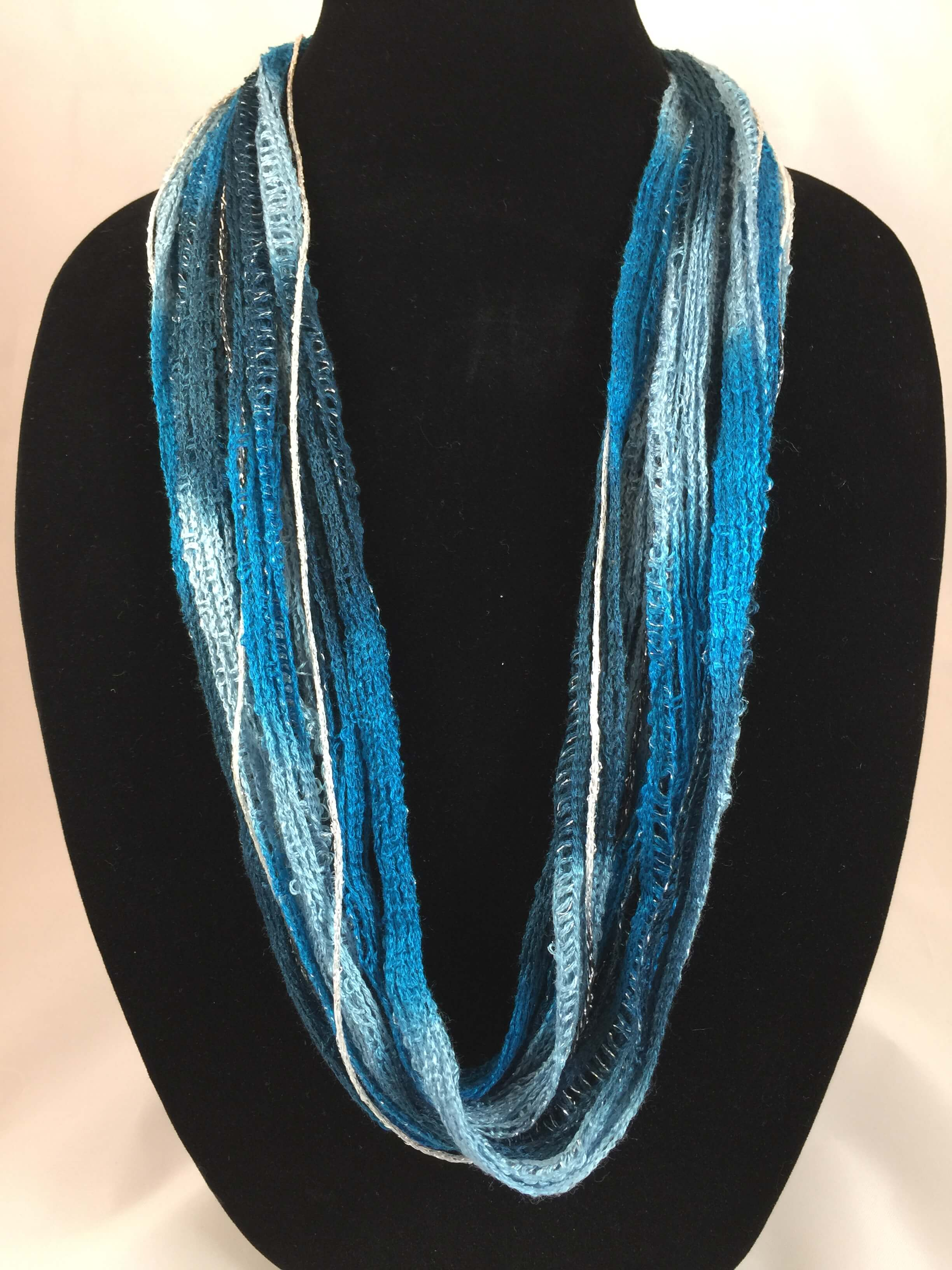 Indigo Blues | Plush | Fiber Necklace