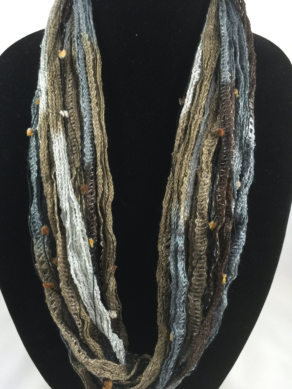 Stone Pebble  | Plush | Fiber Necklace