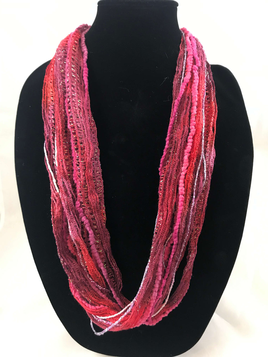 Strawberry | Plush | Fiber Necklace