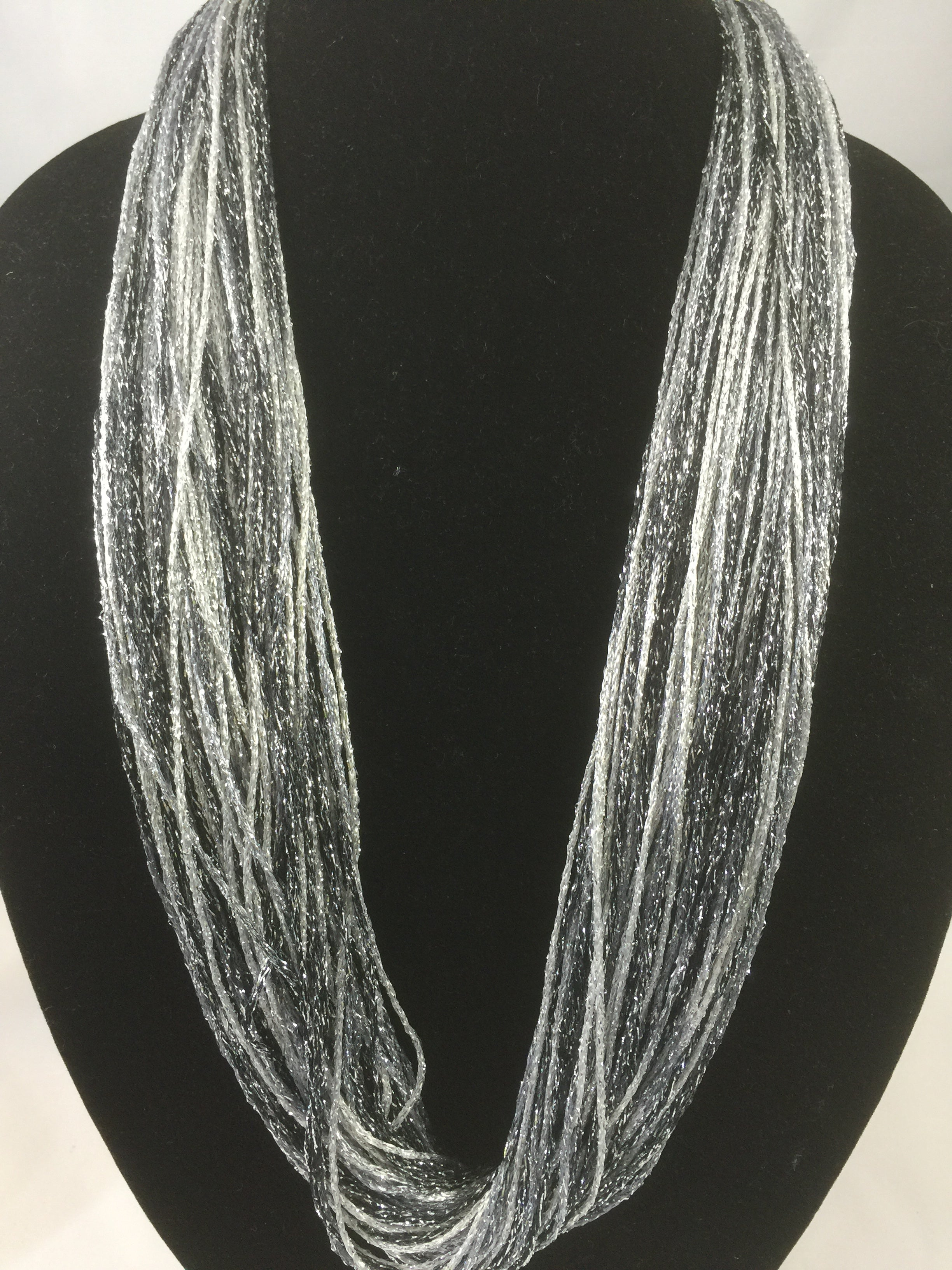Ebony | Shimmer | Fiber Necklace