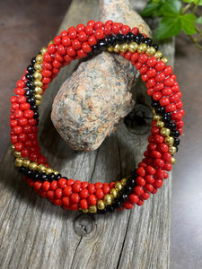 Bonfire Twist, Glass Beaded Bracelet | Inspired by the Elements | Smooth Roll On