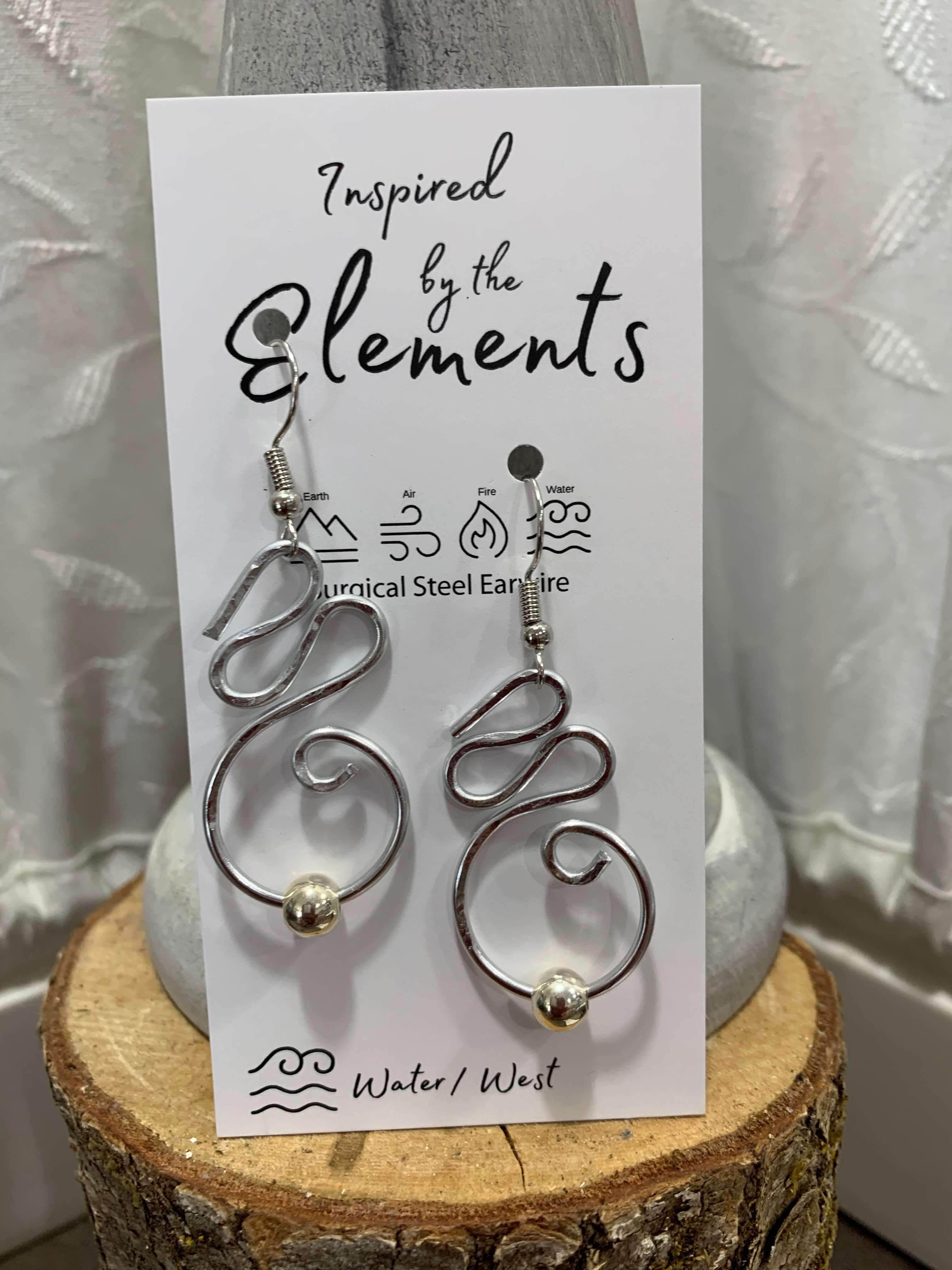 Flowing Streams Earrings | Inspired by the Elements | 20 Colors
