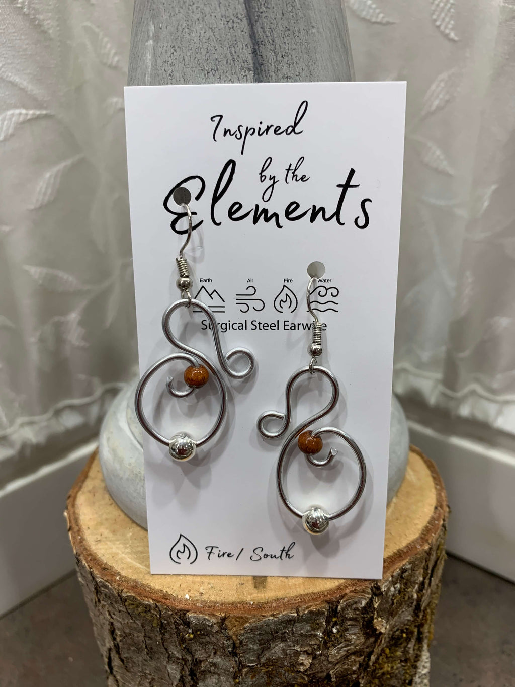 Gentle Swirl Earrings | Inspired by the Elements | 20 Colors