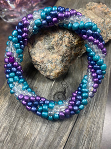 Windy City, Spiral Glass Beaded Bracelet | Inspired by the Elements | Smooth Roll On