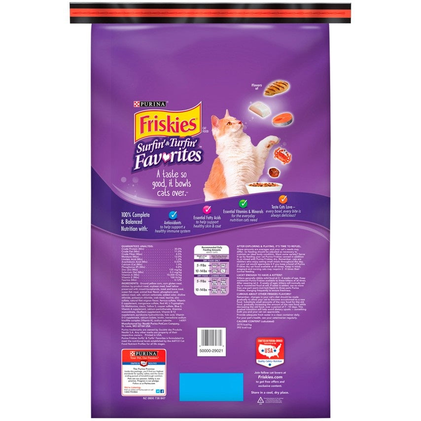 Friskies Surfin andTurfin Favorites Dry Cat Food