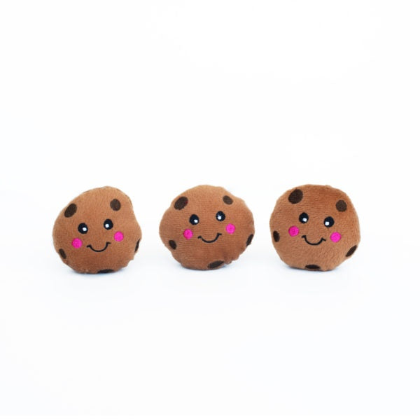 ZippyPaws Miniz Cookies 3-Pack Plush Dog Toys
