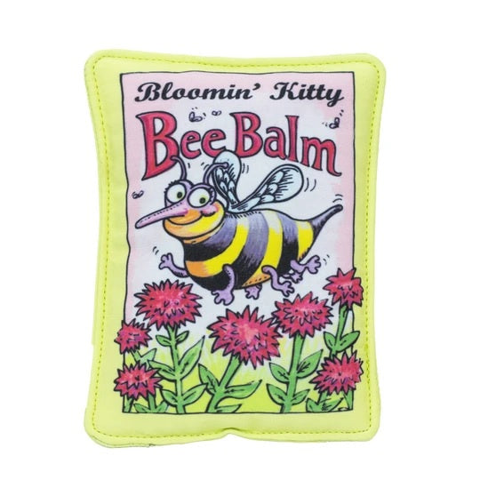 Fuzzu Bloomin Kitty Bee Balm Seed Packet Cat Toy