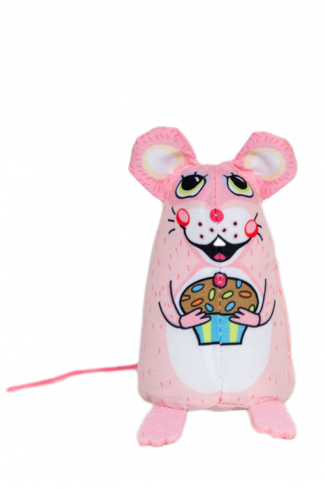 Fuzzu Sweet Baby Mice Cupcake Cat Toy