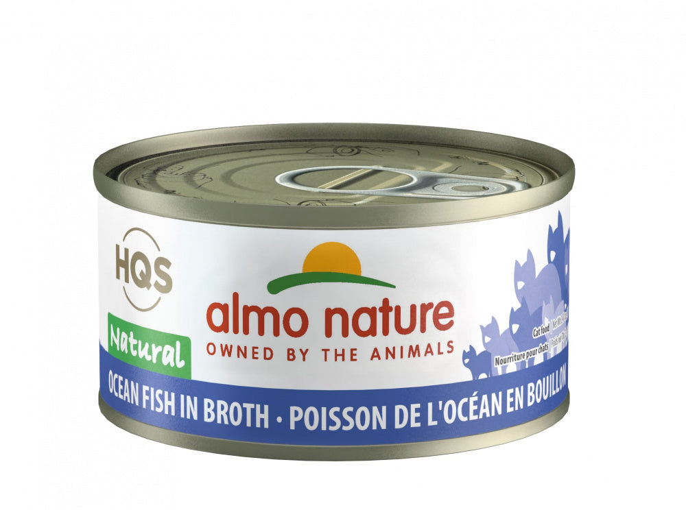 Almo Nature HQS Natural Cat Grain Free Additive Free Ocean Fish Canned Cat Food