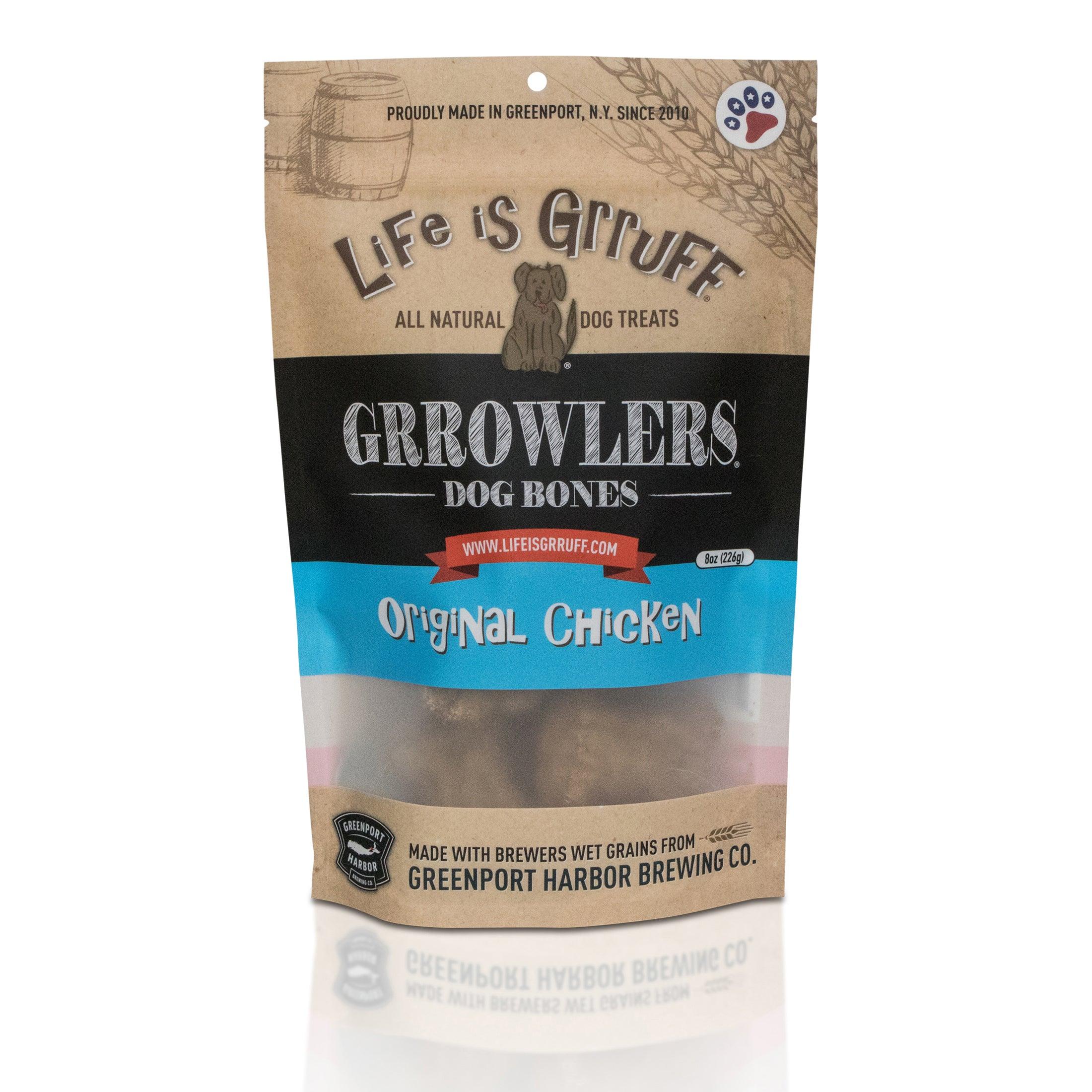 Grrowler's Dog Bones: Original Chicken Liver