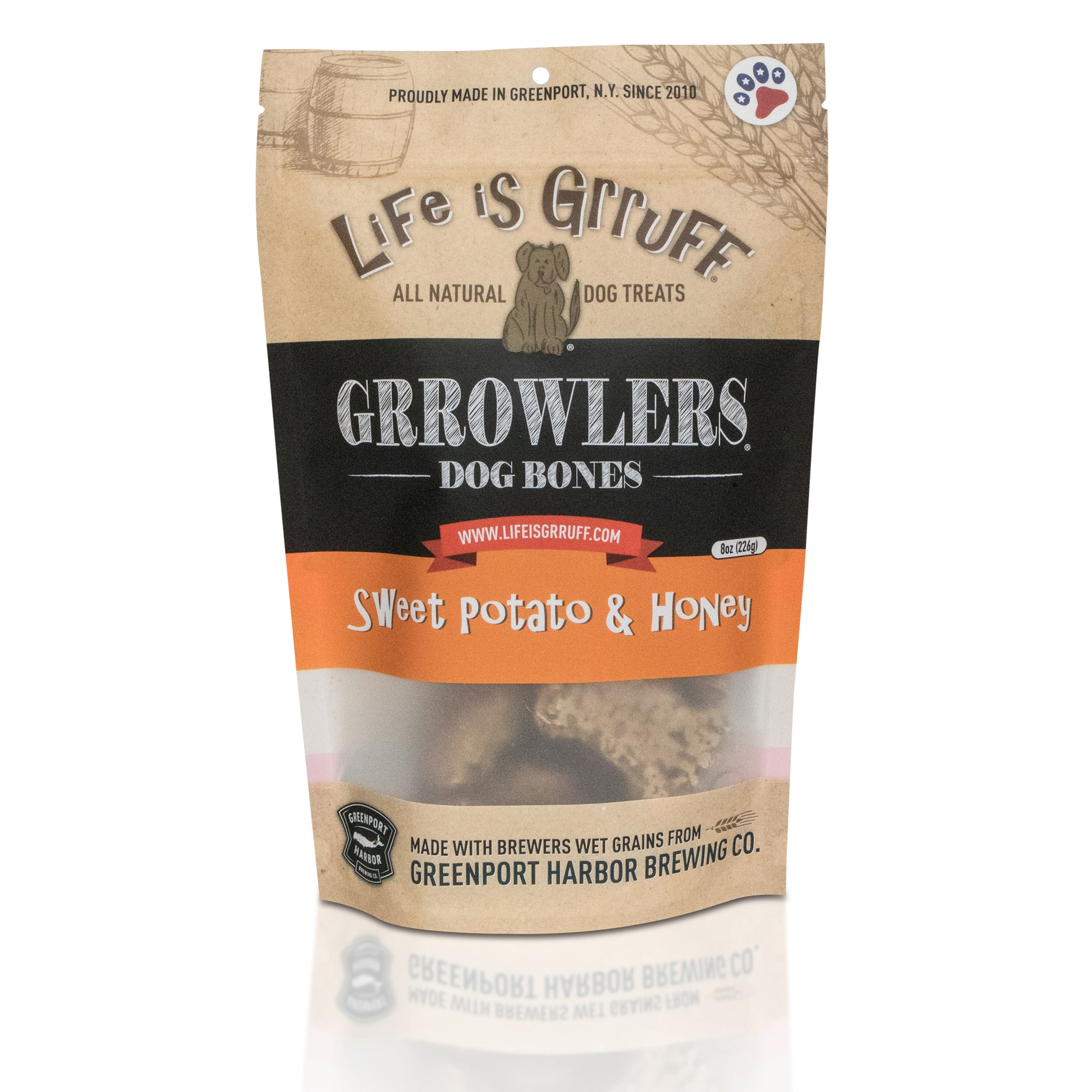Grrowler's Dog Bones: Sweet Potato & Honey