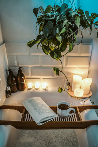 plants in the bathroom for a relaxing atmosphere