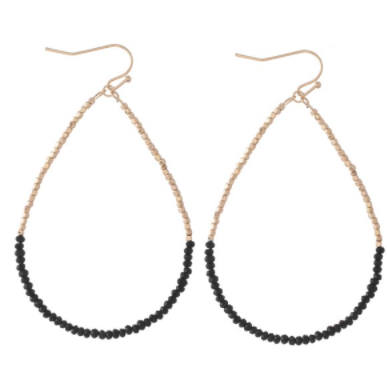 Dainty Beaded Teardrop Earrings