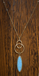 Long Necklace Turq