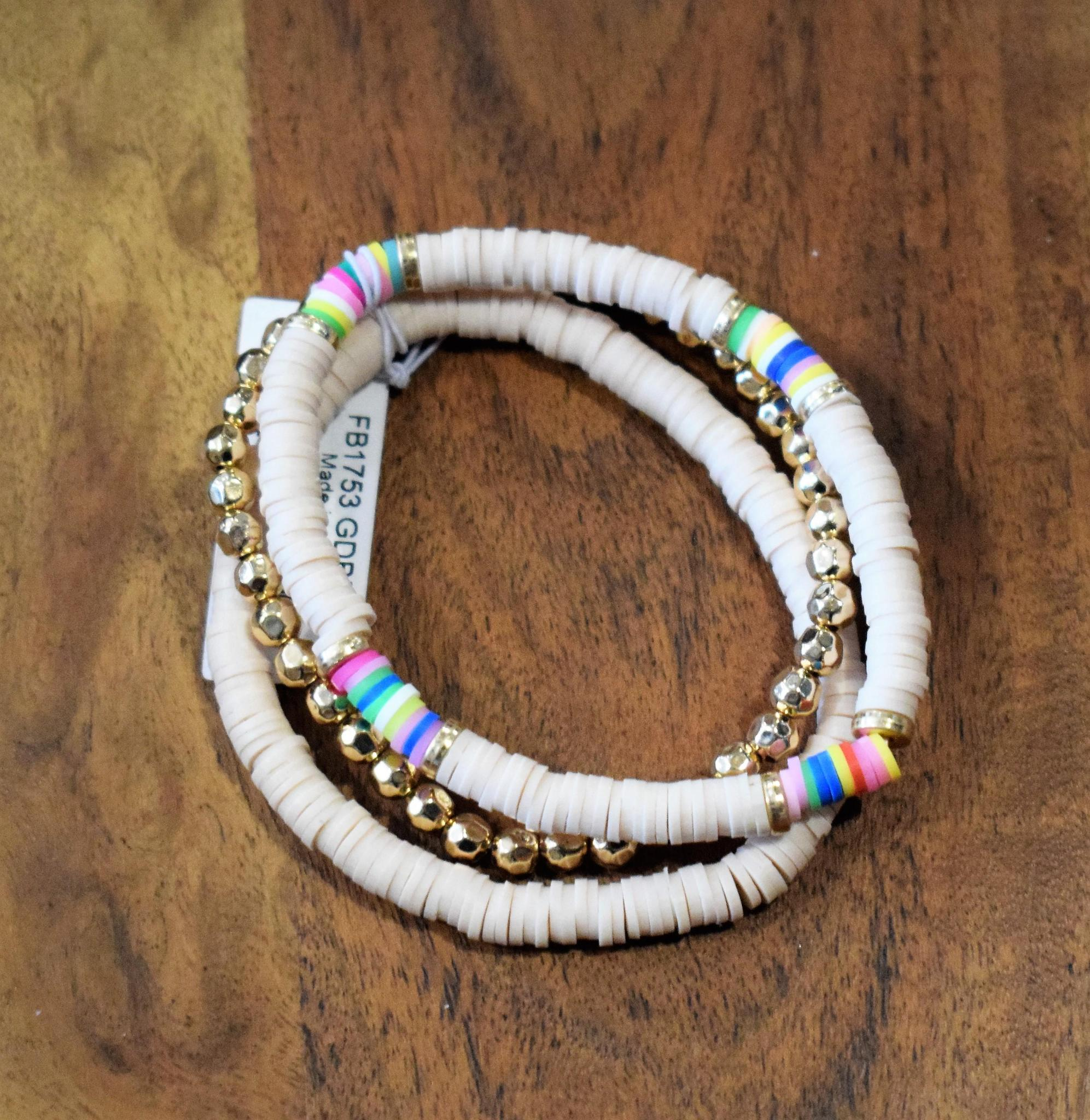 Ivory Stretch 3pc Bracelet