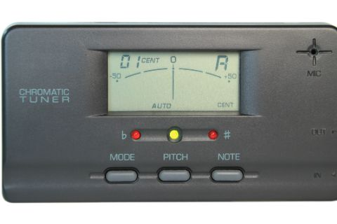 A gray chromatic tuner for violin