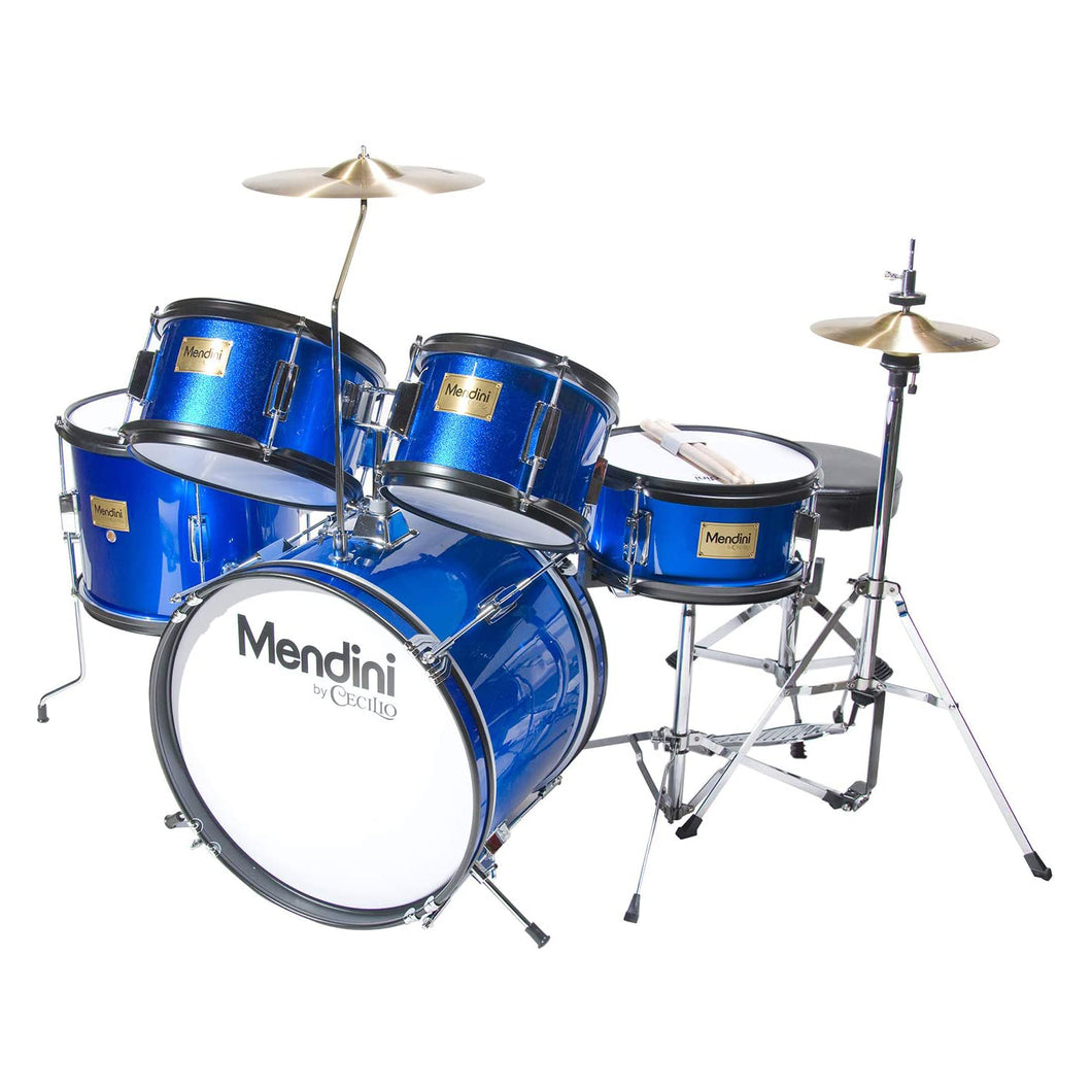 Mendini 5-Piece Kids Drum Set Blue