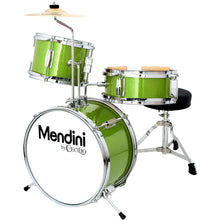 Load image into Gallery viewer, Mendini by Cecilio 13 inch 3-Piece Kids Drum Set Green