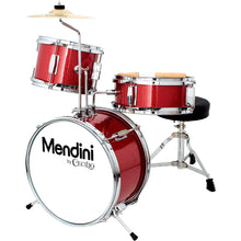 Load image into Gallery viewer, Mendini by Cecilio 13 inch 3-Piece Kids Drum Set Red