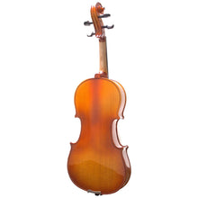 Load image into Gallery viewer, Mendini MV400 Ebony Fitted Solid Wood Violin Back