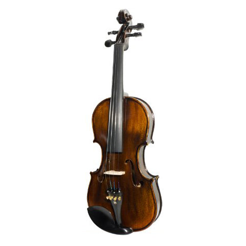 Mendini MV500 Flamed 1-Piece Back Solid Wood Violin