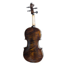 Load image into Gallery viewer, Mendini MV500 Flamed 1-Piece Back Solid Wood Violin