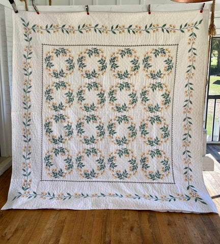 Acorn Cross Stitch Quilt