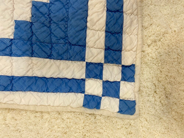 Blue and White Lap Quilt