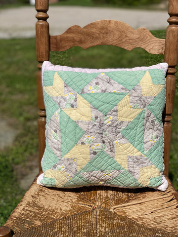 Double Sided Quilt Pillow