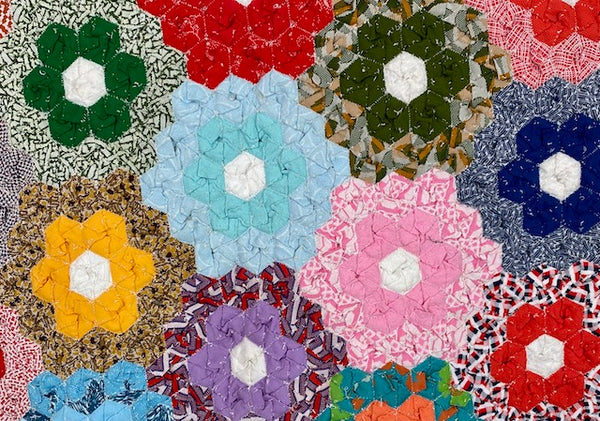 Grandmothers Flower Garden Quilt Top
