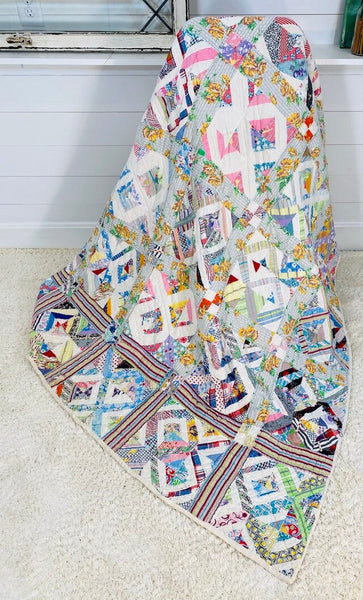 Quarter Square with Sash Quilt