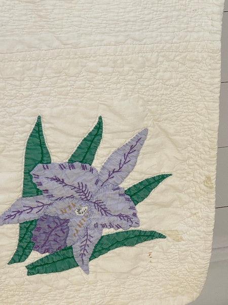 Iris Applique Quilt