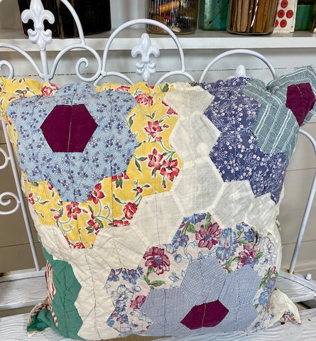 Flower Garden Quilt Pillow