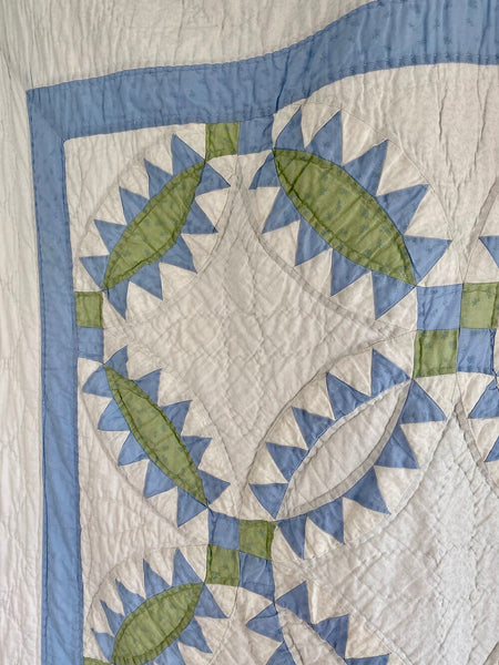 Blue and Green Pickle Dish Quilt