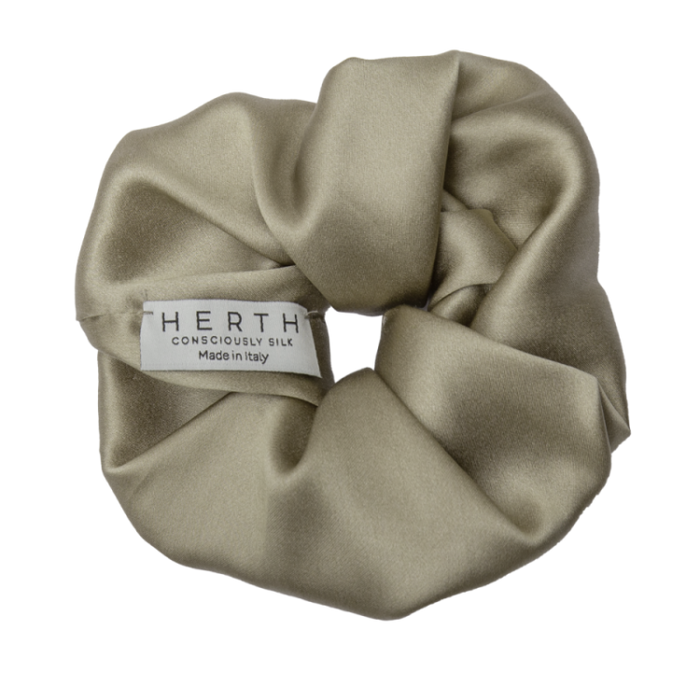 EDI SILK SCRUNCHIE GOLD SAND