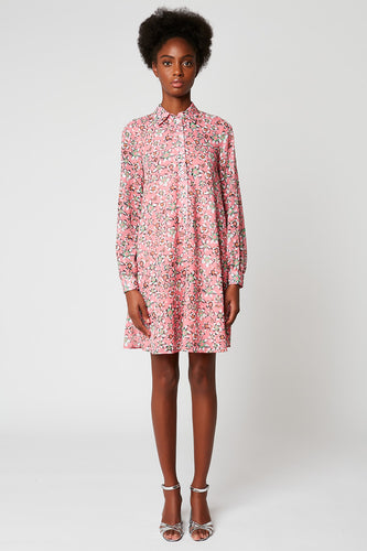 Printed cotton voile dress