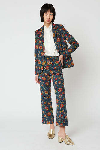 Printed corduroy pants