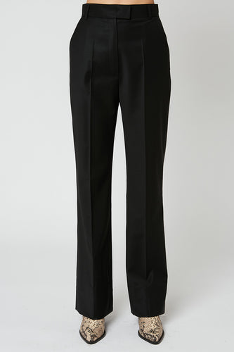 Flared trousers, high waist