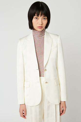 Tailored jacket in jacquard fabric